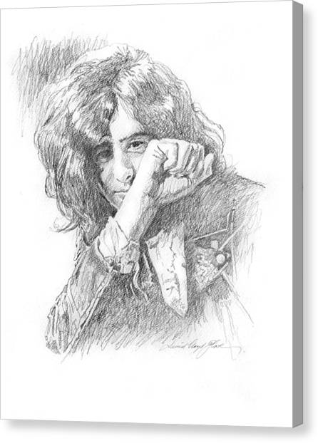 Led Zepplin Canvas Print - Jimmy Page In Person by David Lloyd Glover