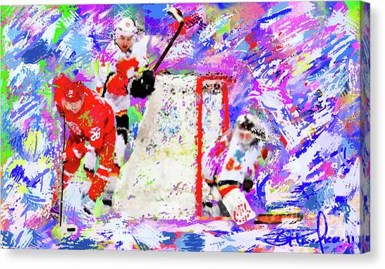 Jiri Hudler Canvas Print by Donald Pavlica