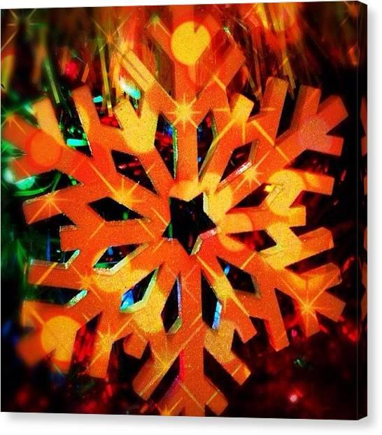Snowflakes Canvas Print - #jj #snow #flake #snowflake #colors by Melissa Mariani