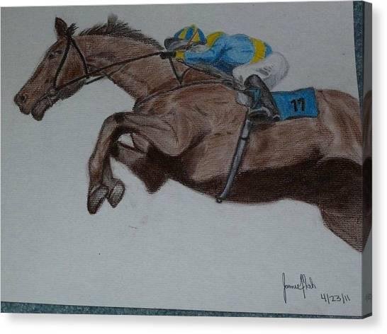 Jockey Canvas Print by Jamie Mah