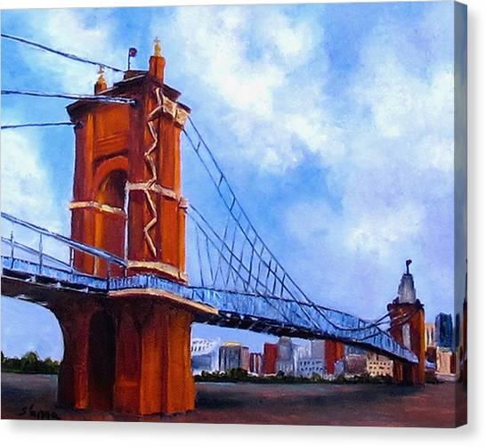 John A. Roebling Bridge Canvas Print