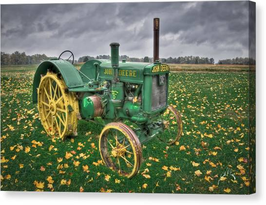 Canvas Print featuring the photograph John Deere 1 by Williams-Cairns Photography LLC