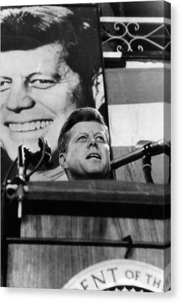 Democratic Politicians Canvas Print - John F. Kennedy, Addresses A Democratic by Everett