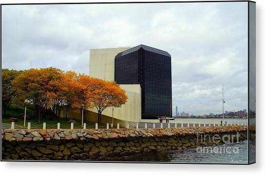 Patriot League Canvas Print - John F. Kennedy Library by Larry Moore
