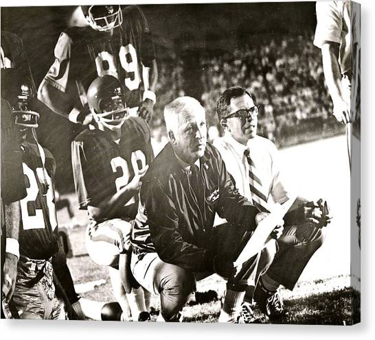 John Mckay On The Sidelines Canvas Print