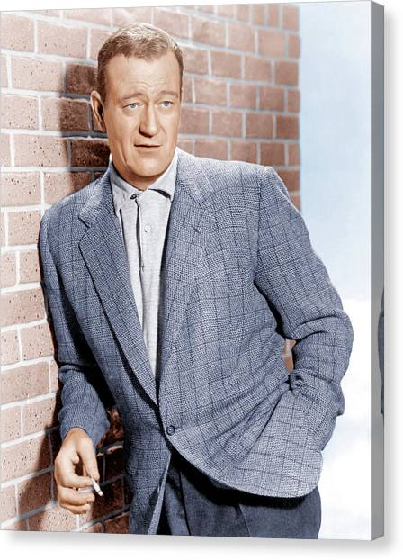 John Wayne, Ca. 1955 Canvas Print by Everett