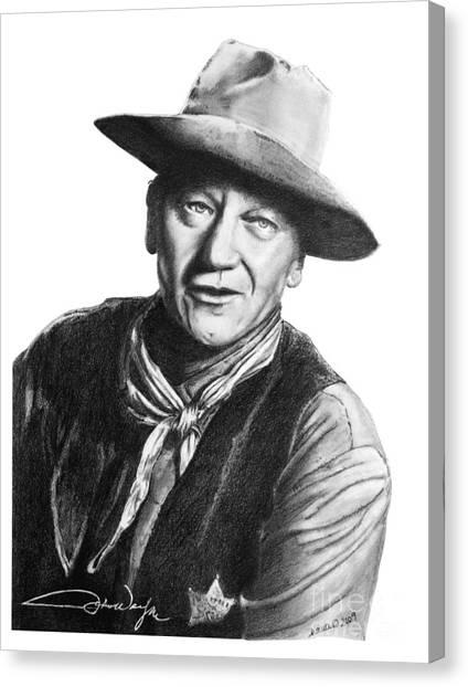 John Wayne  Sheriff Canvas Print