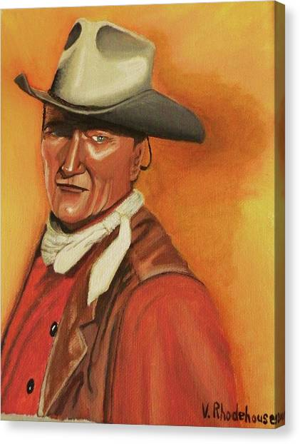 John Wayne Canvas Print by Victoria Rhodehouse
