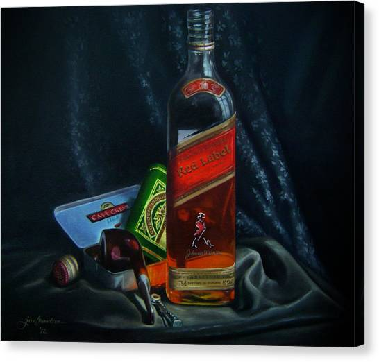 Johnnie Walker  Canvas Print by Epifanio jr Mendoza