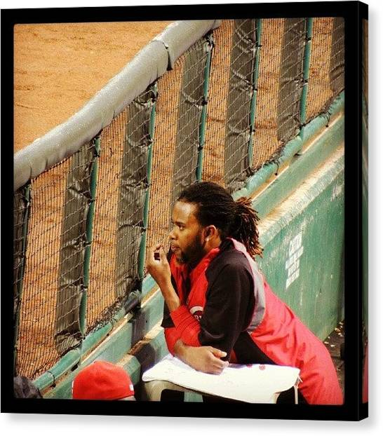 Baseball Teams Canvas Print - Johnny Cueto by Reds Pics