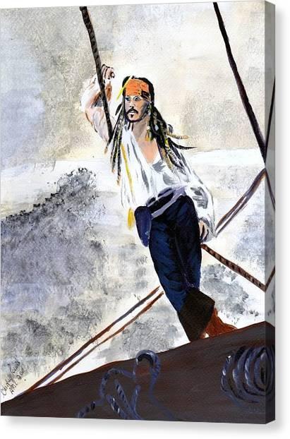 Johnny Depp 8 Canvas Print