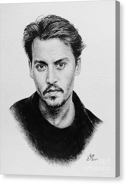 Johnny Depp Canvas Print - Johnny Depp by Andrew Read