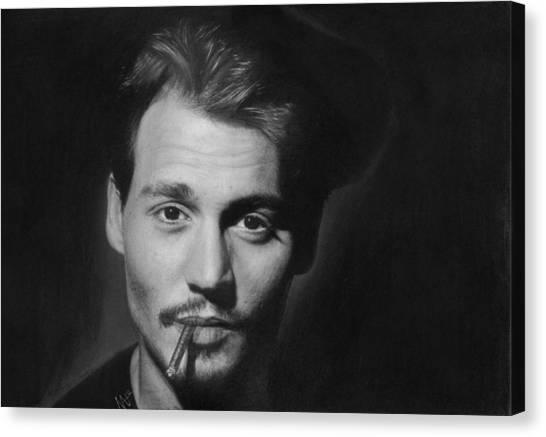 Johnny Depp Canvas Print by Nat Morley