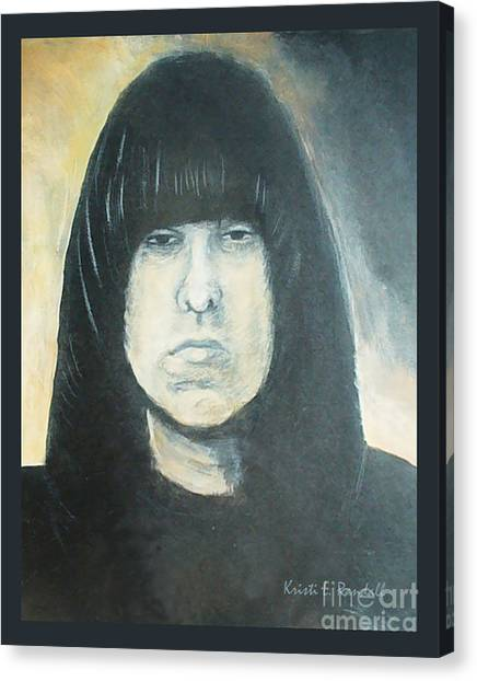 Johnny Ramone The Ramones Portrait Canvas Print by Kristi L Randall
