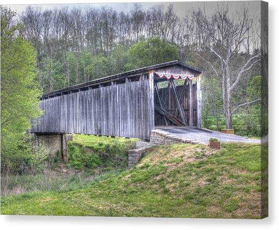 Johnson Creek Covered Bridge Canvas Print