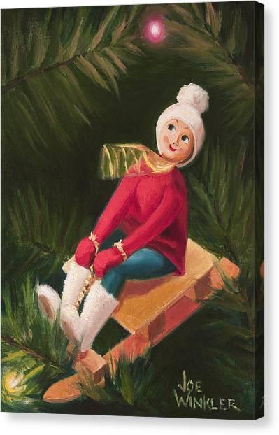 Jolly Old Elf Canvas Print by Joe Winkler