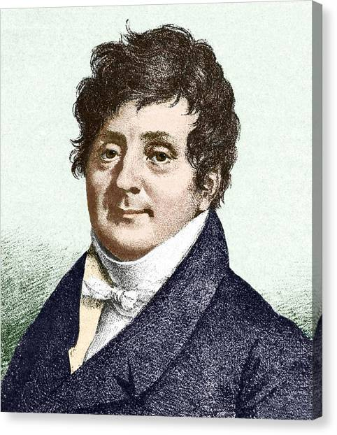 Joseph Fourier, French Mathematician Canvas Print by Sheila Terry