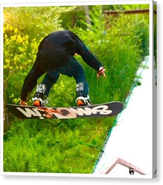 Snowboarding Canvas Print - @jswed2 Getting Air Off The A Frame by Uniqq Clothing