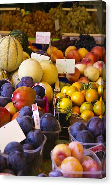 Canteloupes Canvas Print - Juicy Fruits by Julie Black