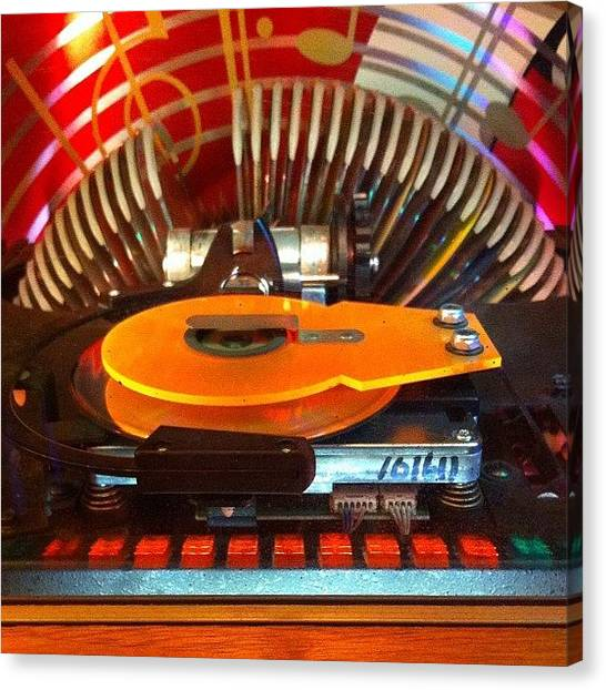 Jukebox Canvas Print - #jukebox by Aubrey Erickson