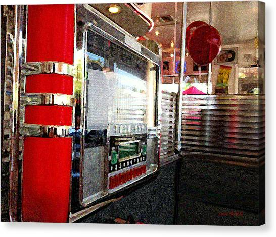 Jukebox Canvas Print - Jukebox by Donna Blackhall