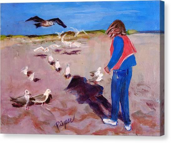 Julie On The Cape Canvas Print
