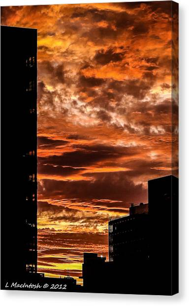 July 4th Sunset Canvas Print by Lauren MacIntosh
