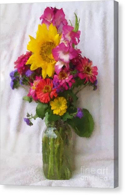 July Bouquet Canvas Print