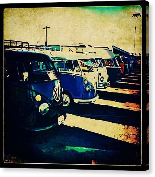Vw Bus Canvas Print - #jumpedthegunposting #vw #volkswagon by Exit Fifty-Seven