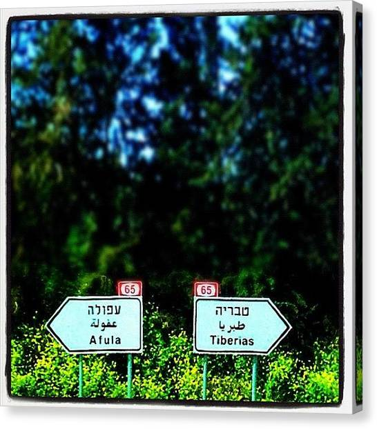 Israeli Canvas Print - Junction by Kim Cafri