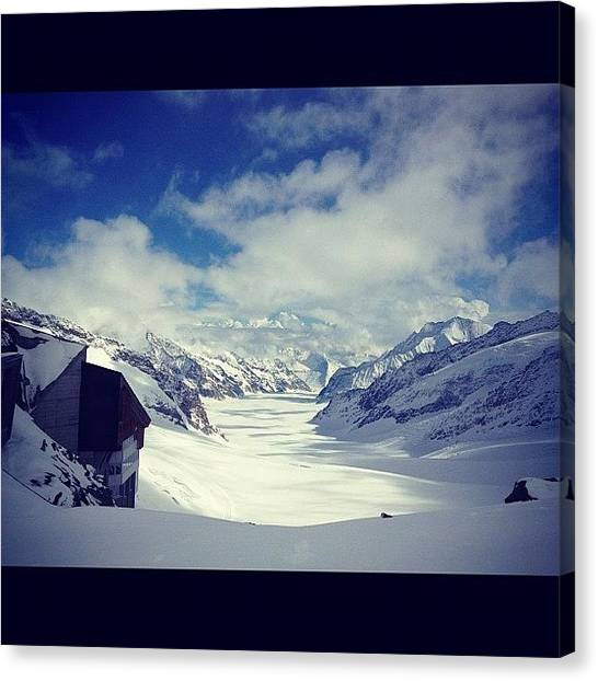 Swiss Canvas Print - Jungfrau- Top Of Europe by Marsha Hasjim