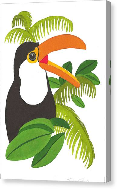 Jungle Toucan Canvas Print