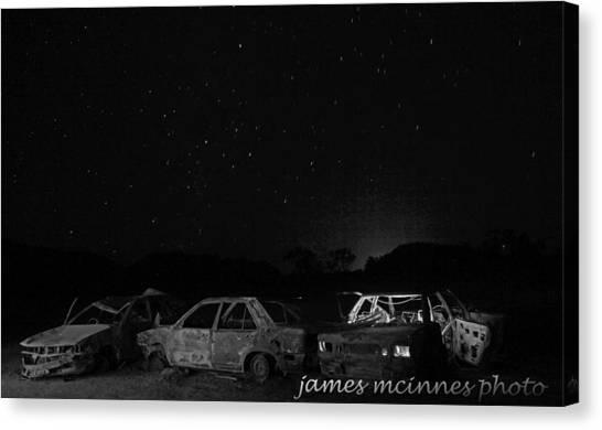 Junk Yard Canvas Print by James Mcinnes