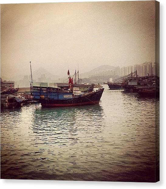 Om Canvas Print - #junkbay #hongkong by Om Bhatia