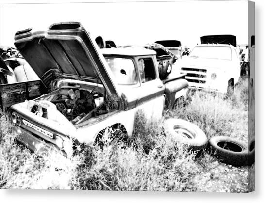 Junkyard Infrared 2 Canvas Print by Matthew Angelo
