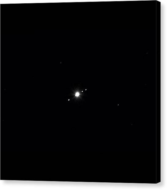 Europa Canvas Print - Jupiter And The Four Galilean Moons Io by Erik Mansson