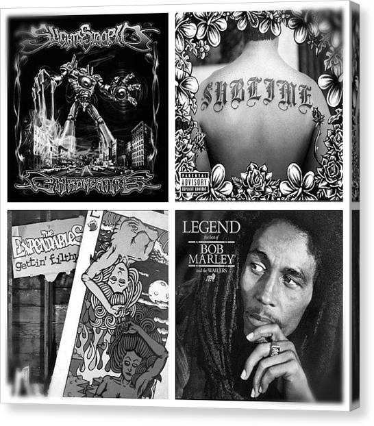 Sublime Canvas Print - Just A Few #reggae Favorites by Tyler Rice
