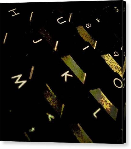 Keyboards Canvas Print - Just A Random Shot by Troy Thomas