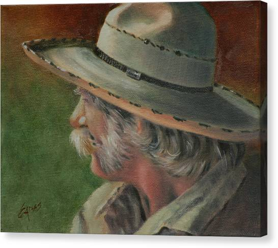 Just An Old Cowhand Canvas Print