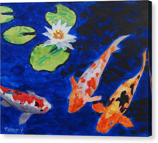 Just Being Koi Canvas Print