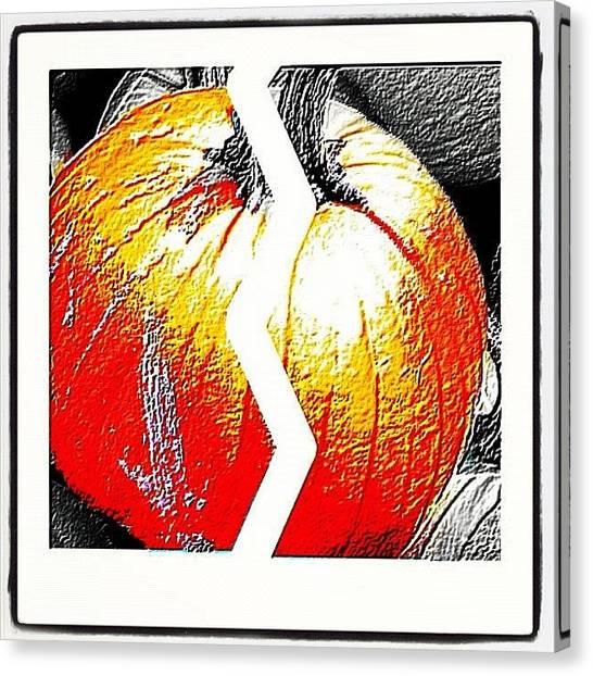 Pumpkins Canvas Print - Just #designed This #pumpkin What Do by Alicia Greene