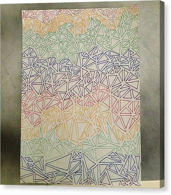 Triangles Canvas Print - Just Finished My #rainbow #color by Kendall Traylor