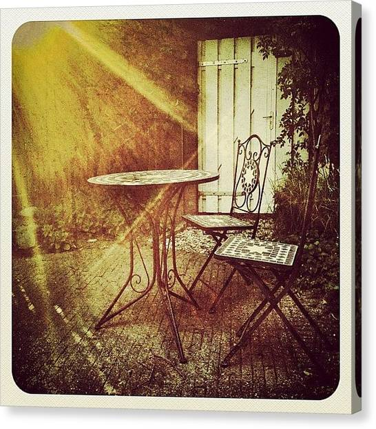 Tables Canvas Print - Just In Our #garden | by Wilbert Claessens