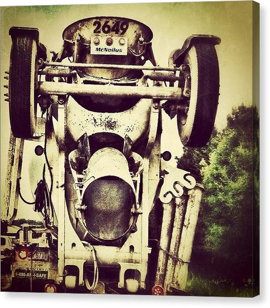Machinery Canvas Print - Just mixin It Up A Bit! 🚚 by Margie P