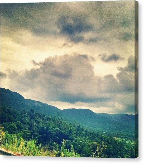 Virginia Canvas Print - Just Over The #stateline #virginia #usa by Lori Lynn Gager