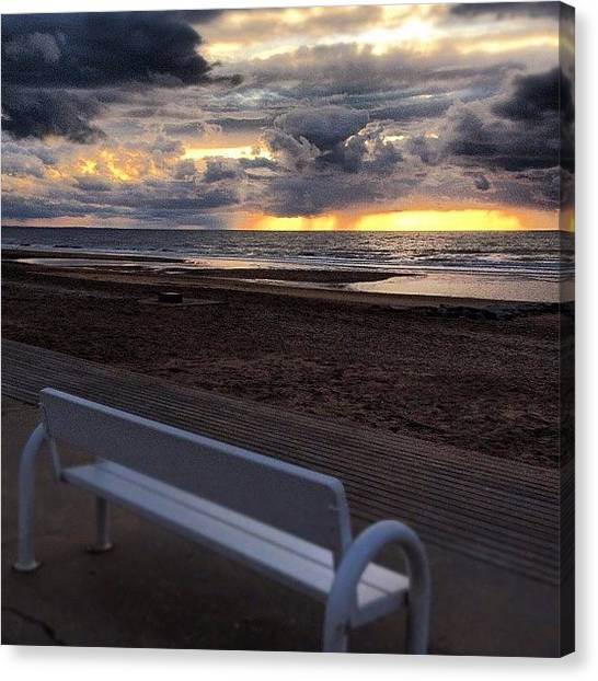 Ocean Sunsets Canvas Print - Just Seat With Me And Relax by Alexandre Stopnicki