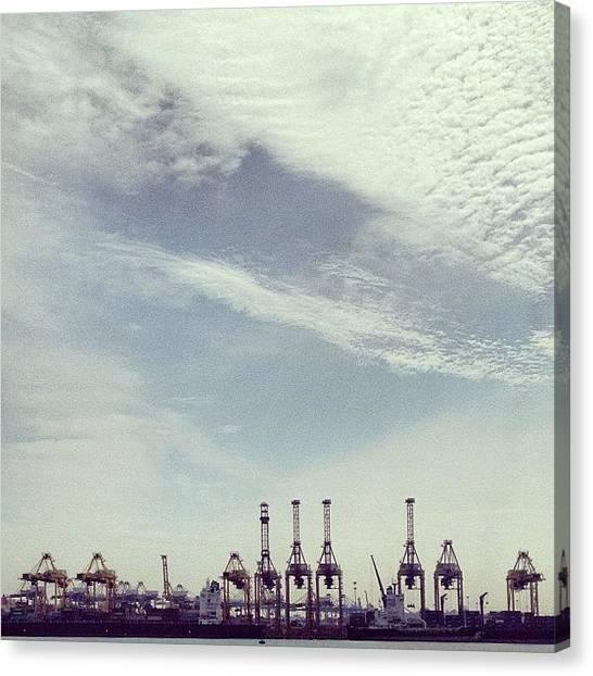 Giraffes Canvas Print - Just Some #cranes #crane #metal #steel by Gabriel Kang