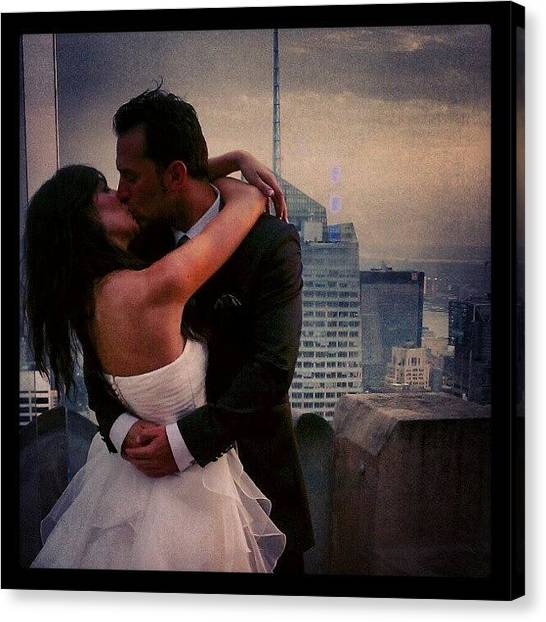 Groom Canvas Print - Just The Two Of Us-color by Nancy Soto