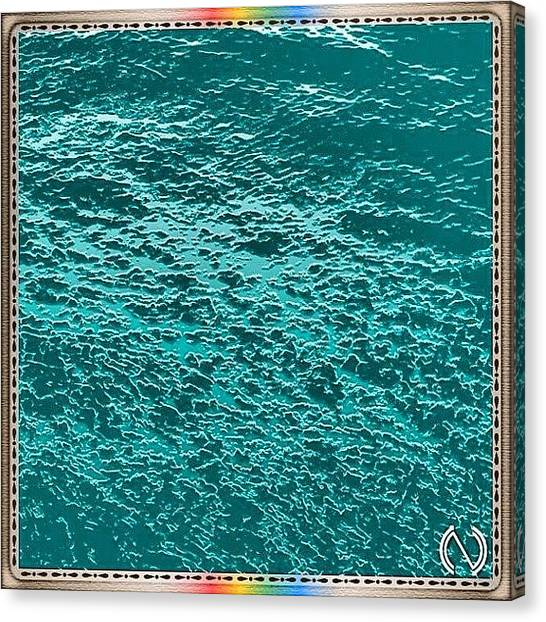 Swiss Canvas Print - Just #water For An #abstract by Mr Etso