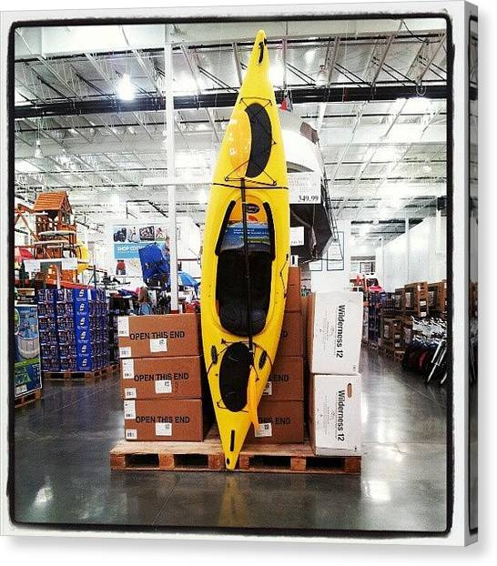 Kayaks Canvas Print - Just What I Needed To Buy At Costco! by Monika Salita